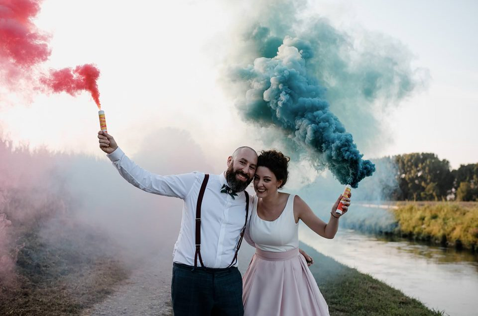 Un barbecue wedding conviviale in cascina